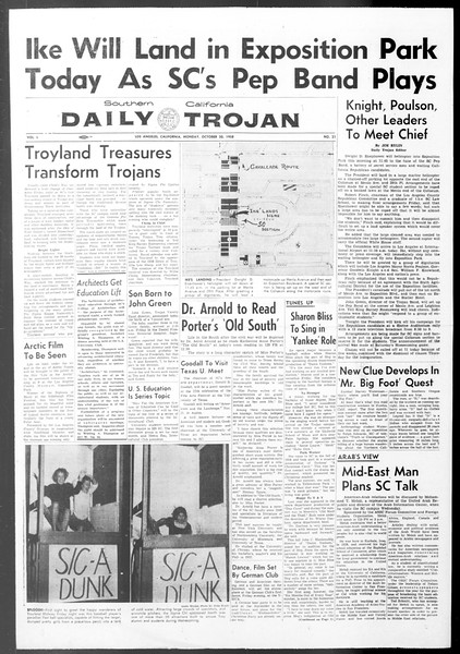 Daily Trojan, Vol. 50, No. 21, October 20, 1958