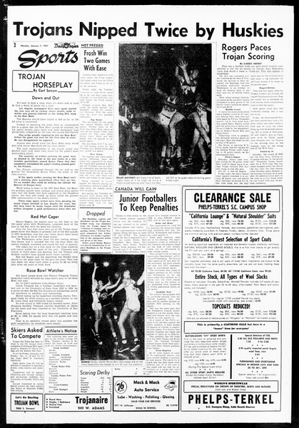 Daily Trojan, Vol. 48, No. 64, January 07, 1957
