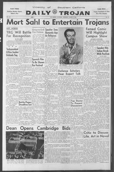 Daily Trojan, Vol. 53, No. 84, March 07, 1962