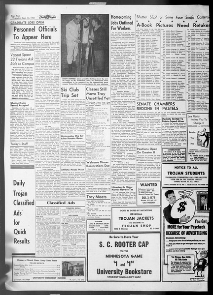 Daily Trojan, Vol. 45, No. 4, September 24, 1953