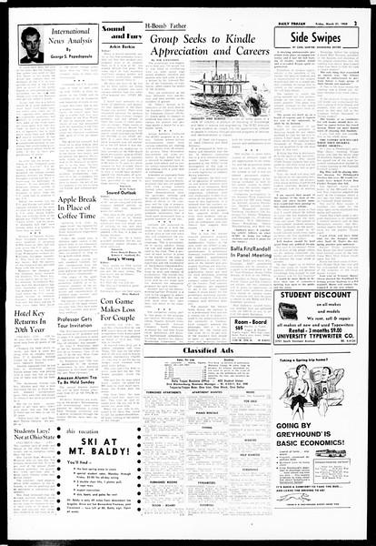 Daily Trojan, Vol. 49, No. 91, March 21, 1958