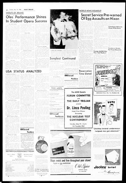 Daily Trojan, Vol. 49, No. 117, May 13, 1958