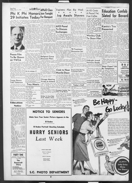Daily Trojan, Vol. 42, No. 88, March 09, 1951