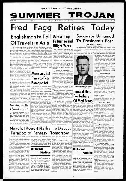 Summer Trojan, Vol. 12, No. 3, July 01, 1957
