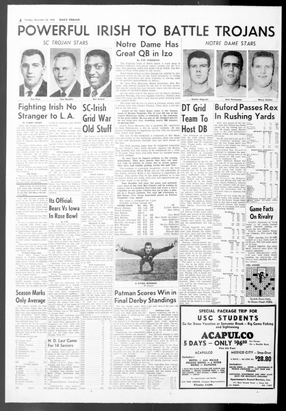 Daily Trojan, Vol. 50, No. 47, November 25, 1958