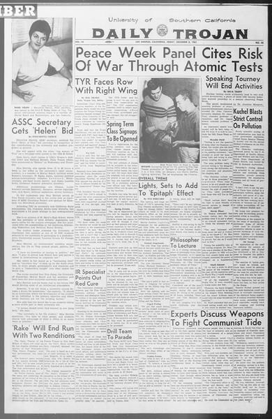Daily Trojan, Vol. 53, No. 55, December 08, 1961