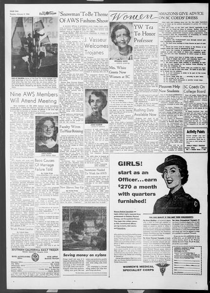 Daily Trojan, Vol. 45, No. 69, February 09, 1954