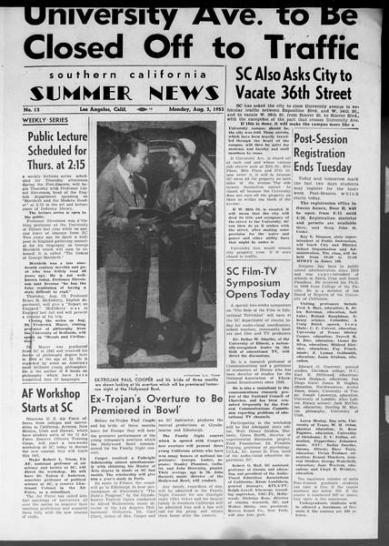 Summer News, Vol. 8, No. 13, August 03, 1953
