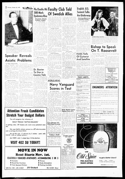 Daily Trojan, Vol. 49, No. 23, October 24, 1957