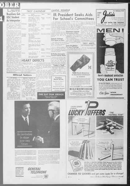 Daily Trojan, Vol. 53, No. 21, October 16, 1961