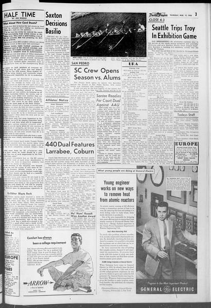 Daily Trojan, Vol. 47, No. 96, March 15, 1956