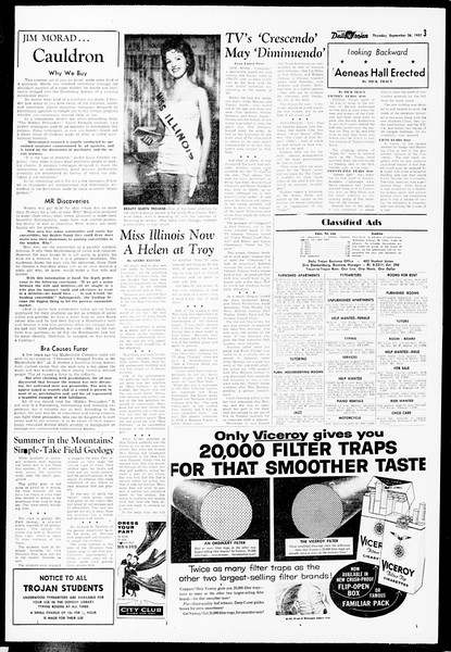 Daily Trojan, Vol. 49, No. 3, September 26, 1957