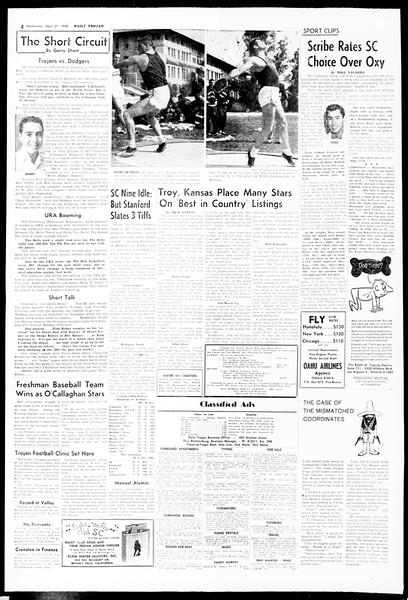 Daily Trojan, Vol. 49, No. 106, April 23, 1958