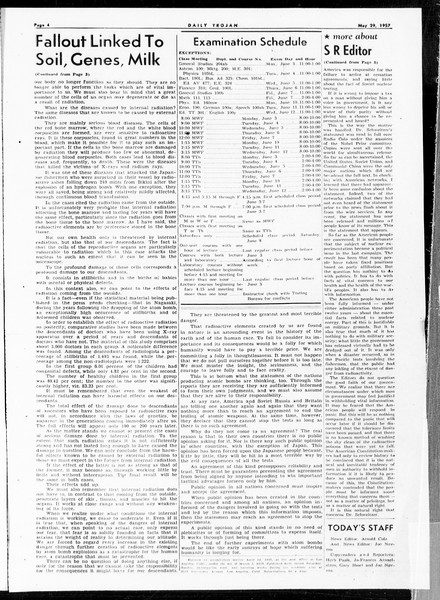 Daily Trojan, Vol. 48, No. 139, May 29, 1957