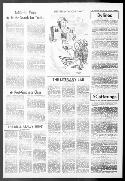 Daily Trojan, Vol. 50, No. 115, April 29, 1959