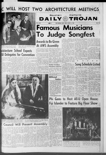 Daily Trojan, Vol. 47, No. 132, May 11, 1956