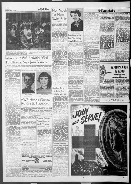 Daily Trojan, Vol. 45, No. 89, March 09, 1954