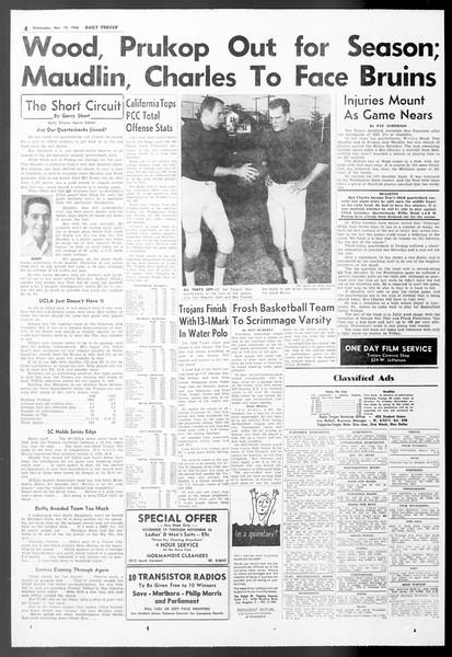 Daily Trojan, Vol. 50, No. 43, November 19, 1958