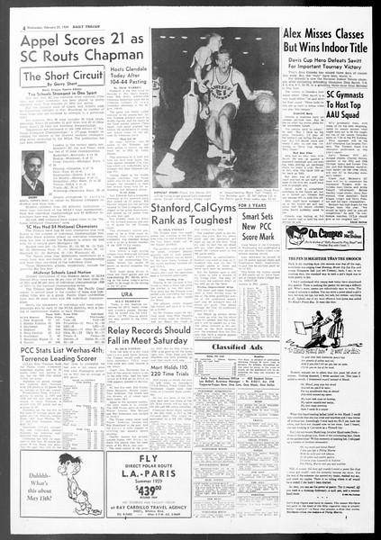 Daily Trojan, Vol. 50, No. 77, February 25, 1959