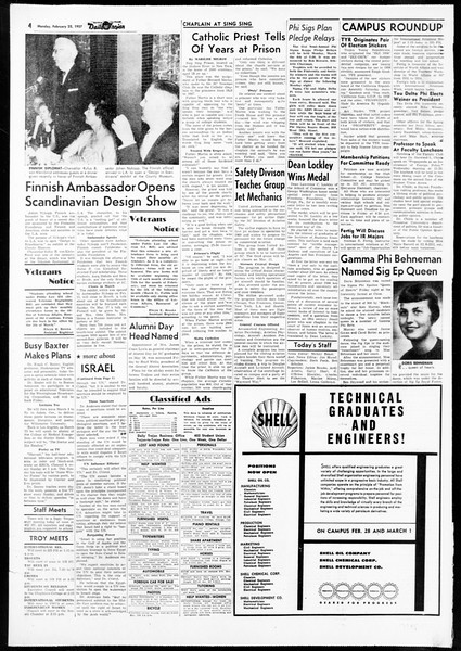Daily Trojan, Vol. 48, No. 80, February 25, 1957