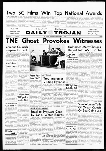 Daily Trojan, Vol. 48, No. 86, March 05, 1957