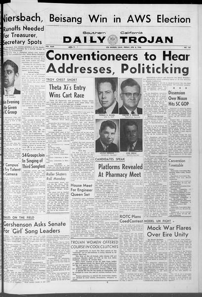 Daily Trojan, Vol. 47, No. 107, April 06, 1956