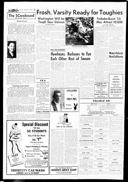Daily Trojan, Vol. 49, No. 28, October 31, 1957
