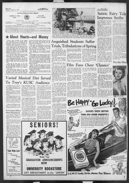 Daily Trojan, Vol. 42, No. 110, April 17, 1951
