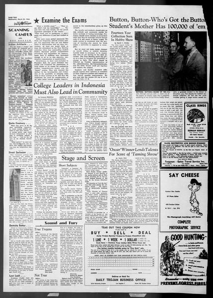 Daily Trojan, Vol. 45, No. 100, March 24, 1954