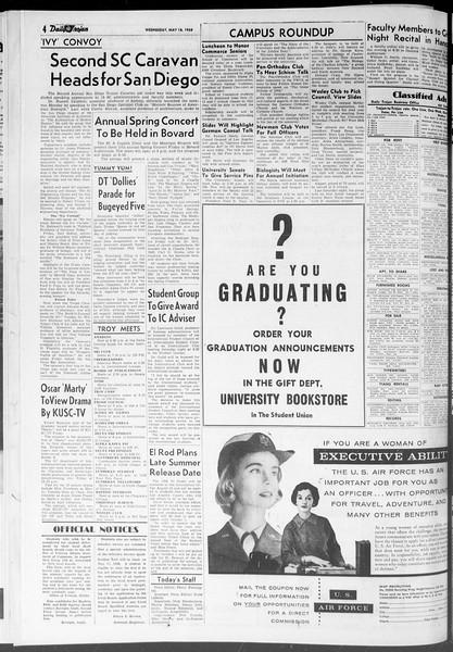 Daily Trojan, Vol. 47, No. 135, May 16, 1956