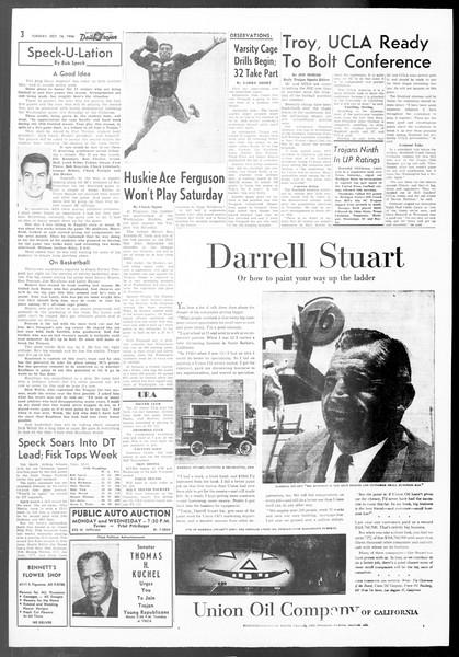 Daily Trojan, Vol. 48, No. 18, October 16, 1956