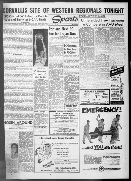 Daily Trojan, Vol. 45, No. 92, March 12, 1954