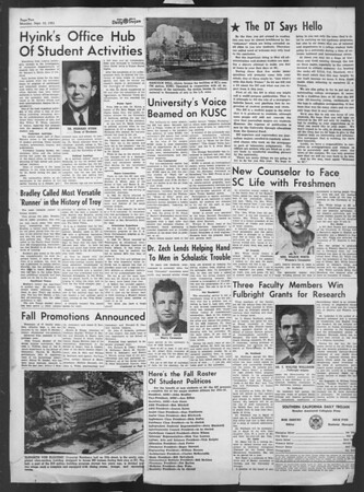 Daily Trojan, Vol. 43, No. 1, September 10, 1951