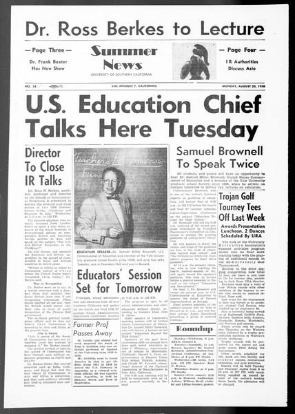 Summer News, Vol. 11, No. 15, August 20, 1956
