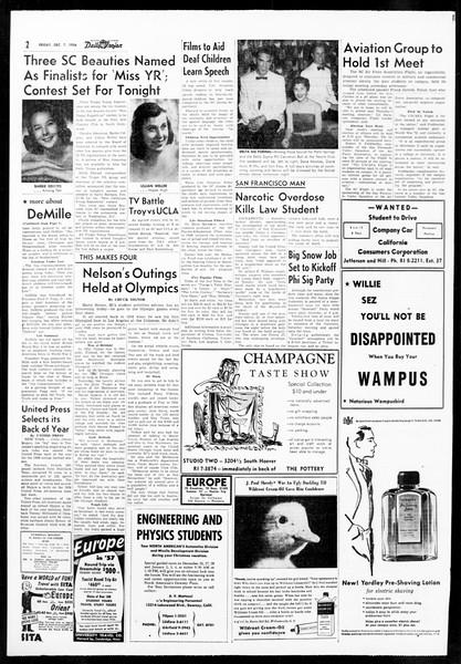 Daily Trojan, Vol. 48, No. 54, December 07, 1956
