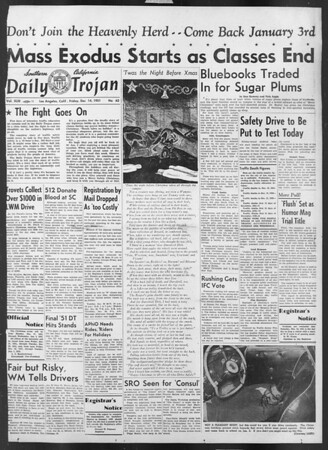 Daily Trojan, Vol. 43, No. 62, December 14, 1951