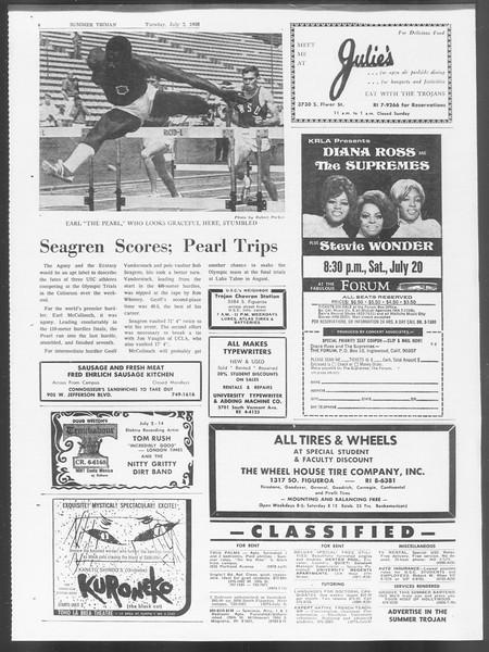 Summer Trojan, Vol. 19, No. 5, July 02, 1968