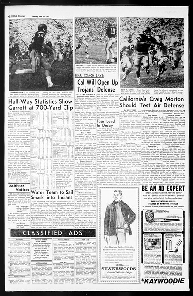 Daily Trojan, Vol. 55, No. 22, October 22, 1963