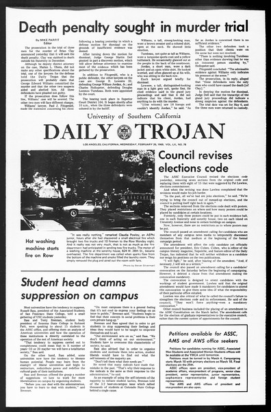Daily Trojan, Vol. 60, No. 78, February 26, 1969