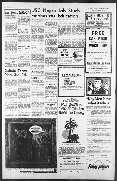 Daily Trojan, Vol. 58, No. 79, February 28, 1967