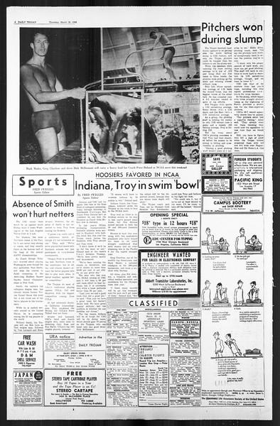 Daily Trojan, Vol. 59, No. 100, March 28, 1968