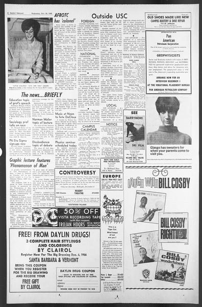 Daily Trojan, Vol. 58, No. 48, November 30, 1966
