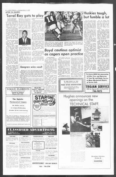 Daily Trojan, Vol. 60, No. 21, October 17, 1968