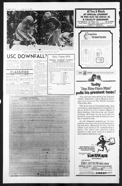 Daily Trojan, Vol. 59, No. 25, October 20, 1967