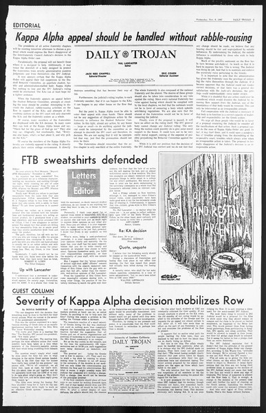 Daily Trojan, Vol. 59, No. 36, November 08, 1967