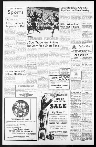 Daily Trojan, Vol. 57, No. 117, May 10, 1966