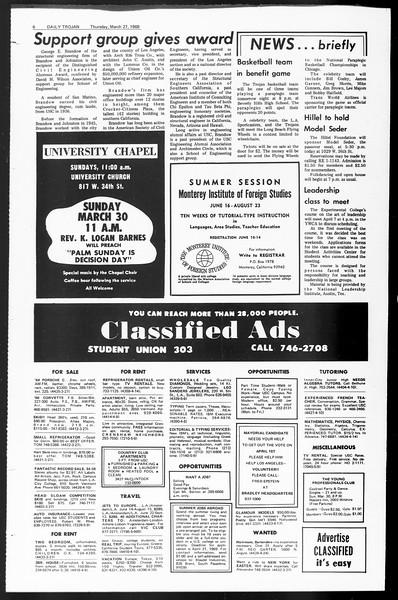 Daily Trojan, Vol. 60, No. 99, March 27, 1969