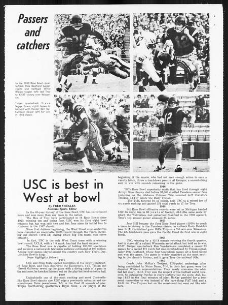 Daily Trojan, Vol. 59, No. 57, January 01, 1968
