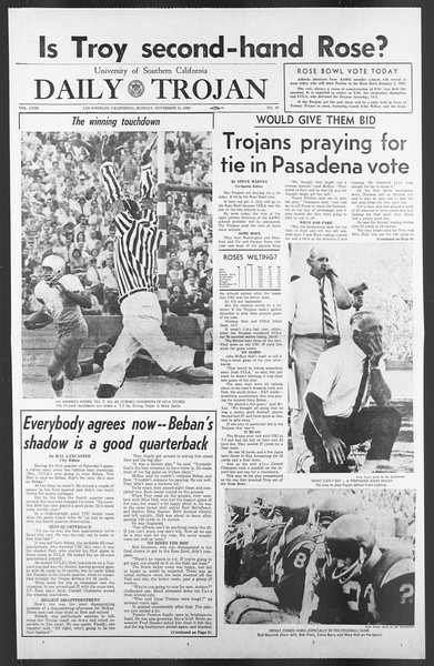 Daily Trojan, Vol. 58, No. 45, November 21, 1966