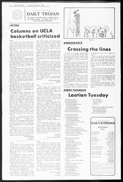 Daily Trojan, Vol. 62, No. 79, March 02, 1971